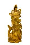 Kuan Yin Weißhintergrund Stockfotos