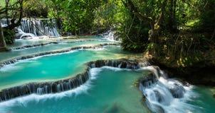 Kuang Si Falls Fotografia Stock Libera da Diritti
