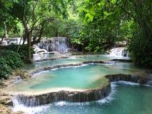 Kuang Si Falls Royaltyfria Bilder