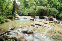 Kuang Si Falls, Laos Stock Afbeeldingen