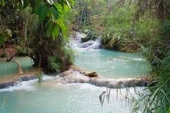 Kuang Si Waterfall. Luang Prabang. Laos. Royalty Free Stock Photography