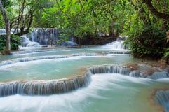 Kuang Si Waterfall. Luang Prabang. Laos. Stock Photo