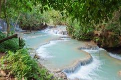 Kuang Si Waterfall. Luang Prabang. Laos. Stock Photography