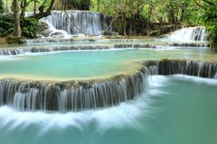 Kuang Si Falls stock photography