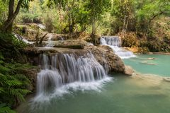 Kuang Si siklawa w Laos zdjęcie royalty free