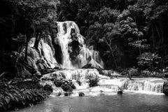 Kuang Si siklawa w Laos, Luang Prabang Zdjęcia Stock