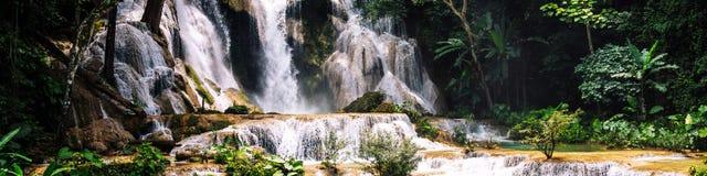 Kuang Si siklawa w Laos, Luang Prabang Fotografia Royalty Free