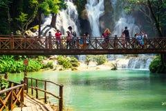 Kuang Si siklawa w Laos, Luang Prabang Obrazy Royalty Free