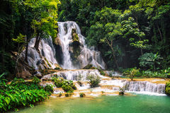 Kuang Si siklawa w Laos, Luang Prabang Obraz Royalty Free