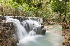 Kuang Si Small Waterfall stock images
