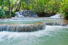 Kuang Si siklawa. Luang Prabang. Laos. Zdjęcia Royalty Free