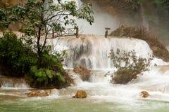 Kuang Si Wasserfall Stockbild