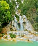 Kuang si water fall in Luang prabang,Laos. Royalty Free Stock Photo