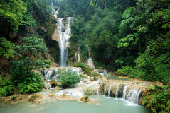 Kuang Si Waterfall Royalty Free Stock Images