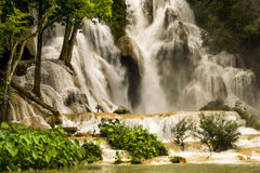 Kuang Si waterfall Royalty Free Stock Photography