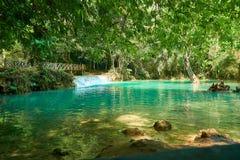 Kuang Si Waterfall em Luang Prabang laos Paisagem 2019 foto de stock