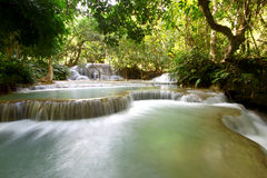 Kuang Si Waterfall Laos Photographie stock