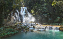 Kuang si waterfall Stock Photography