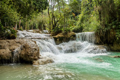 Kuang si waterfall Royalty Free Stock Photos