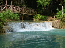 Kuang Si Waterfall in Laos Royalty Free Stock Image