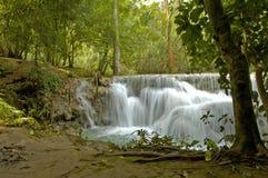 Kuang Si waterfall Laos Stock Photo
