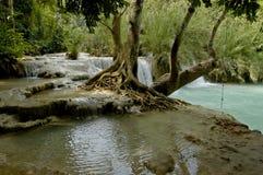 Kuang Si waterfall Laos Royalty Free Stock Photo