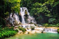 Kuang Si waterfall in Laos, Luang Prabang Royalty Free Stock Image