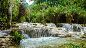 Kuang Si Waterfall in Laos Royalty Free Stock Photography