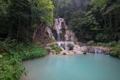 Kuang Si Waterfall in Luang Prabang, LAOS Stockfotografie