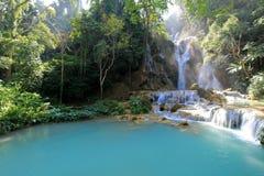 Kuang Si Waterfall Luang Prabang, Laos royaltyfria bilder