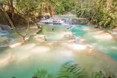 Kuang Si Waterfall Luang Prabang, Laos Fotografering för Bildbyråer