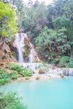 Kuang Si Waterfall Luang Prabang, Laos Royaltyfri Fotografi