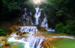 Kuang si waterfall. Luang prabang - Laos Royalty Free Stock Photography