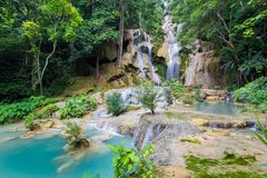 Kuang Si Waterfall Stock Photography
