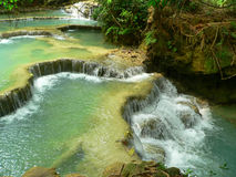 Kuang Si Waterfall, Luang prabang, Laos Royalty Free Stock Images