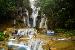 Kuang Si Waterfall, Luang prabang, Laos Royalty Free Stock Images