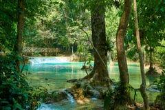 Kuang Si Waterfall in Luang Prabang laos 2019 Landschap royalty-vrije stock afbeelding