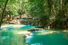 Kuang Si Waterfall in Luang Prabang laos 2019 Landschap stock fotografie
