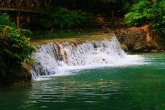 Kuang si waterfall Royalty Free Stock Photo