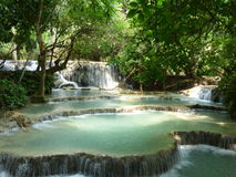 Kuang Si Waterfall in Laos Stock Photo