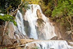 Kuang Si Waterfall near Luang Prabang, Laos Royalty Free Stock Image
