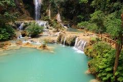 Kuang Si Waterfall, prabang de Luang, Laos Fotografía de archivo libre de regalías
