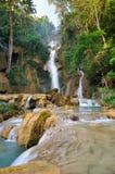 Kuang Si Waterfall, prabang di Luang, Laos Fotografie Stock