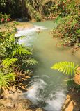 Kuang Si waterfalls at Laos. Royalty Free Stock Photography