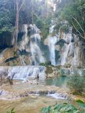 Kuang Si Waterfalls, Luang Prabang, stock photos