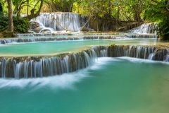 Kuang Si Waterfalls royalty free stock photography
