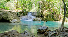 Kuang Si waterfalls at Luangprabang Laos Stock Image
