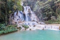 Kuang Si-watervallen in Luangprabang Royalty-vrije Stock Foto
