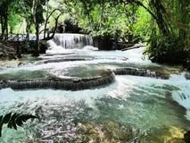 Kuangsi瀑布公园场面 图库摄影