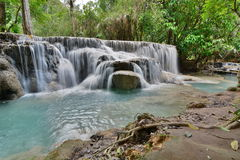 Kuangsi siklawa Luang Prabang Laos Obraz Stock